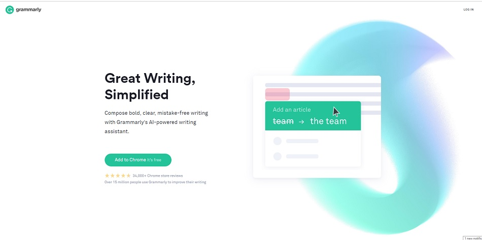 The University Libraries subscribe to Grammarly