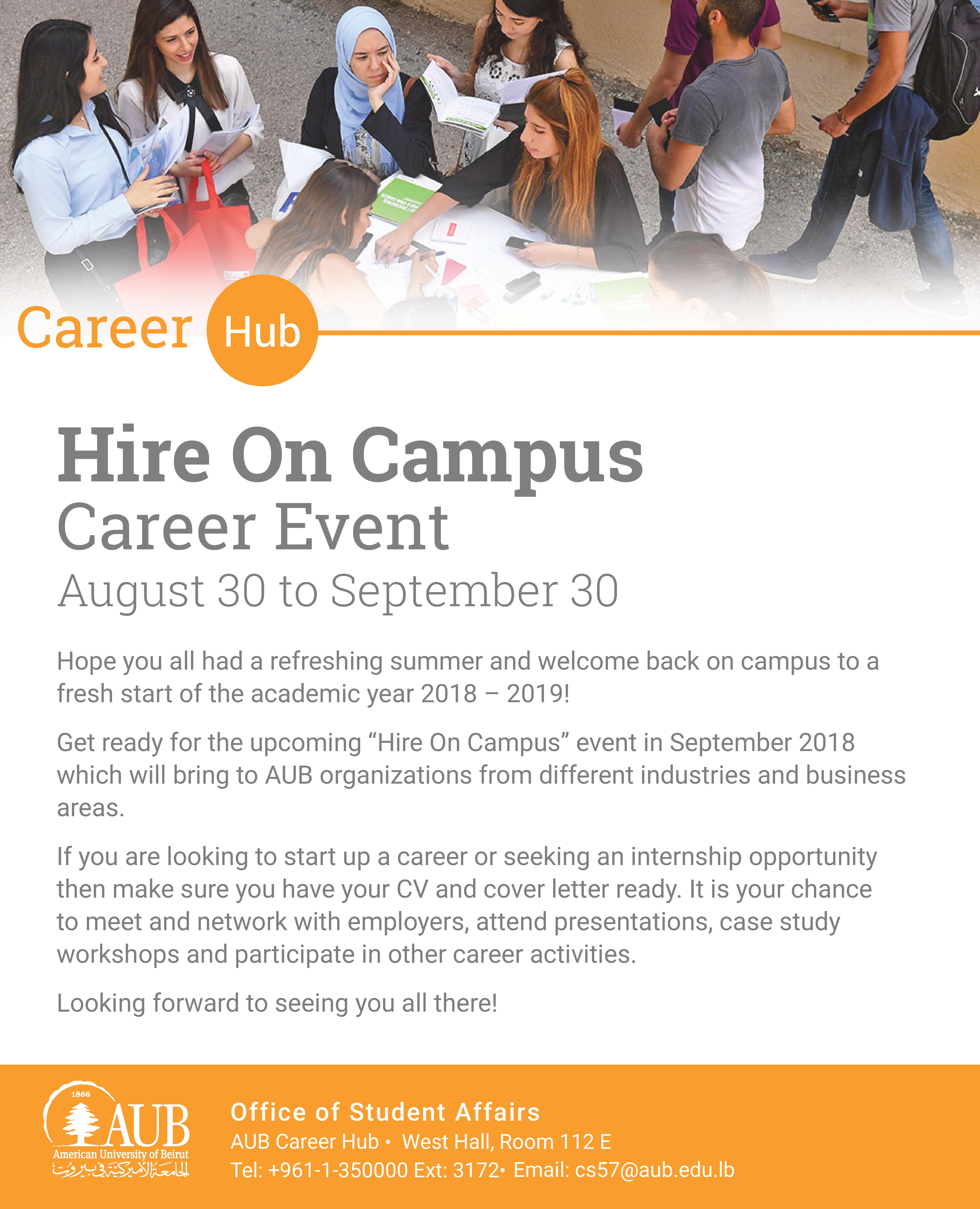 Hire On Campus September Event