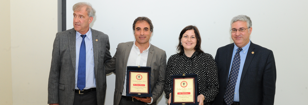 Nidal Daou and Yaser Abunnasr awarded for teaching excellence