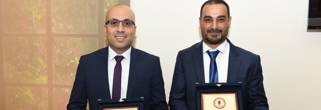 Joseph Costantine and Bilal Orfali recipients of Teaching Excellence Award