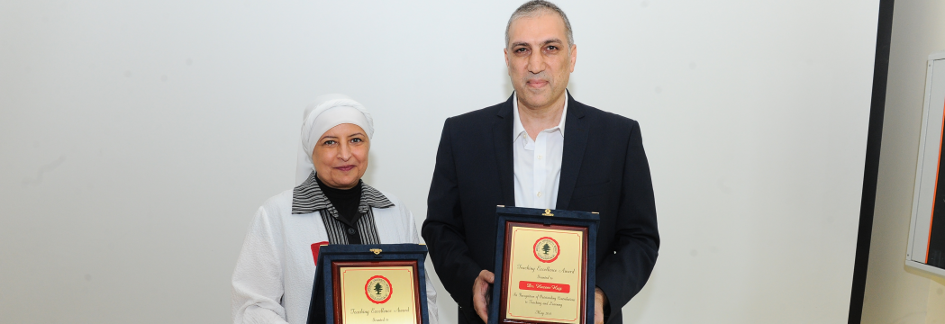 Howayda Al Harithy and Hazem Hajj recognized as outstanding educators