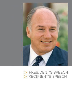 photo of the Aga Khan - AUB 2005 Honorary Degree Recipient