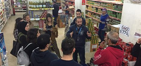 During the students field visit to one of the World Food Program Partners in Akkar - North Lebanon